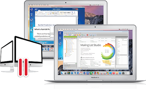 Mailing List Studio su MacBook